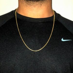 "Jewelry - 24"" SOLID GOLD ROPE CHAIN"
